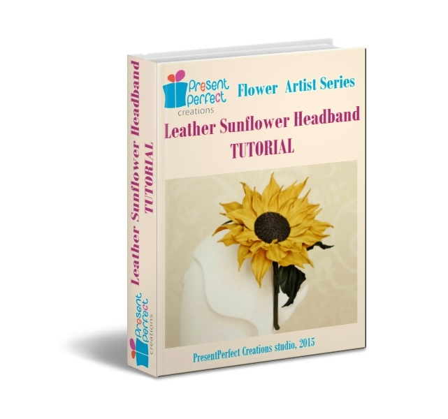 Leather Sunflower Tutorial