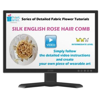 silk english rose hair comb course 3D