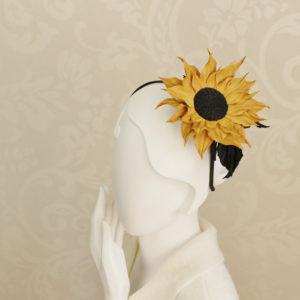 leather flower headband