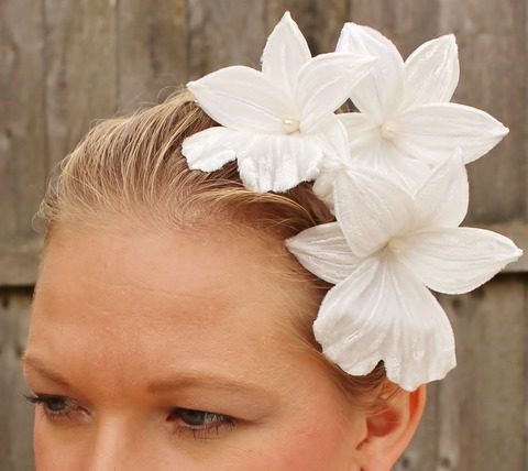 white orchid hearband