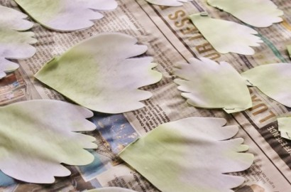 How to dye silk flowers: white flowers