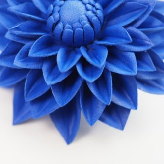 Leather dahlia flower pin