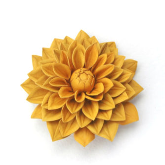 small rich yellow dahlia corsage small