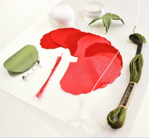 Special Offer Diy Kit For Making A Fabric Poppy Corsagetutorial