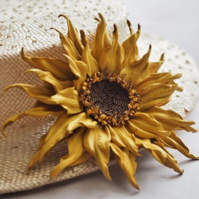leather sunflower