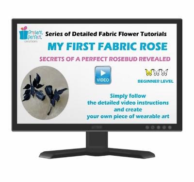 fabric rose video tutorial