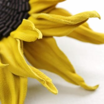 leather sunflower brooch 2