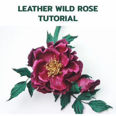 Wild Rose leather corsage tutorial (no specialist tools)