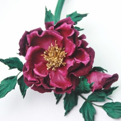 leather corsage tutorial