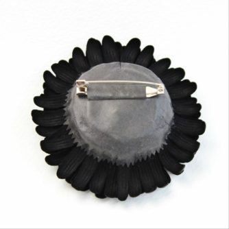 black leather gerbera