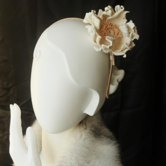 winter wedding leather headband