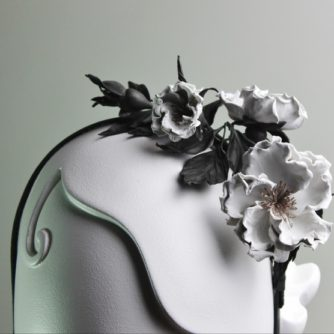 rose leather headpiece