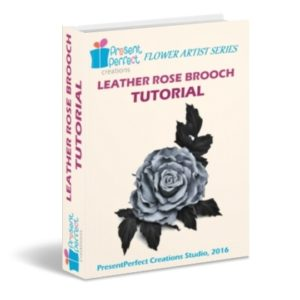 leather rose brooch tutorial