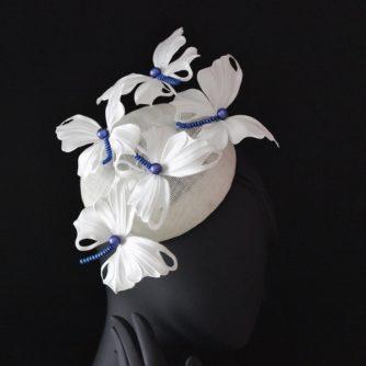 white silk butterfly hat