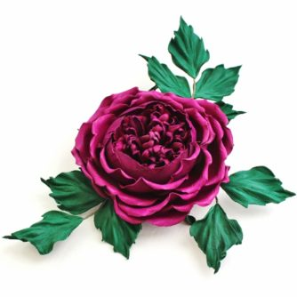 Fuchsia leather rose corsage 2 (500x500)