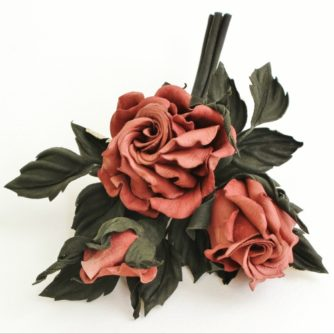 leather rose spray corsage