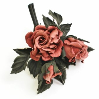 leather rose spray corsage 2 (500x499)