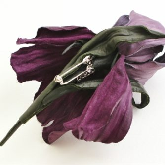 purple leather iris corsage back (500x362)