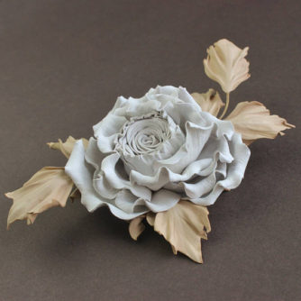 white and beige rose side