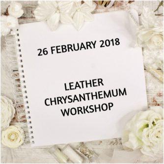 leather chrysanthemum workshop