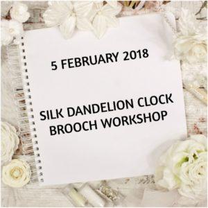 silk dandelion clock workshop