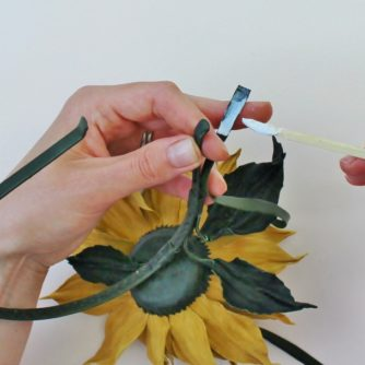 leather sunflower tutorial