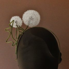 Silk Dandelion Clock Fascinator