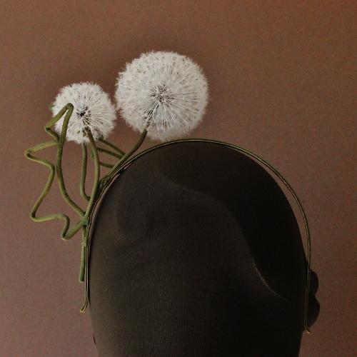 Silk dandelion clock headpiece presentperfect creations original silk dandelion clock headpiece mightylinksfo