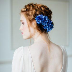 blue silk hydrangea