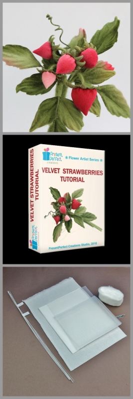 velvet strawberries tutorial