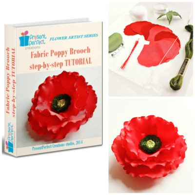 SPECIAL OFFER DIY Kit for making a Fabric Poppy Corsage+TUTORIAL