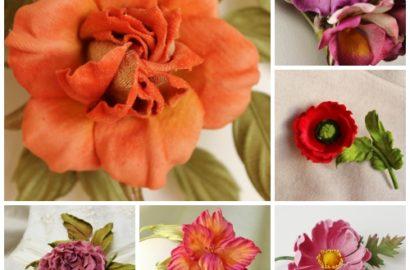 Velvet for making flowers