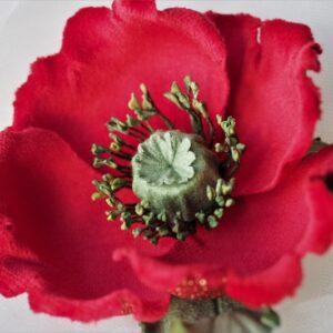 velvet poppy brooch
