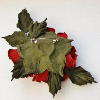 leather rose back