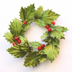 Christmas Holly and Berry Brooch