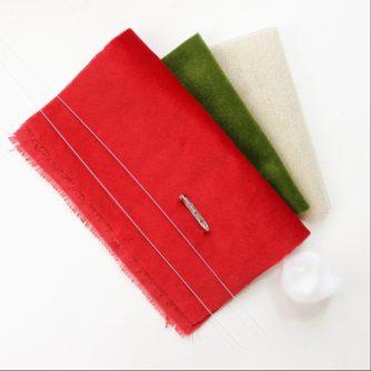 fabric camellia material kit