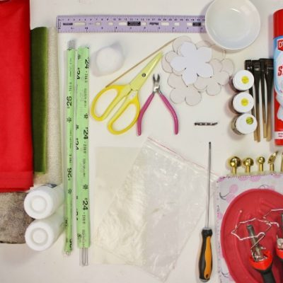 DIY Material Kit for making a Velvet Camellia Brooch