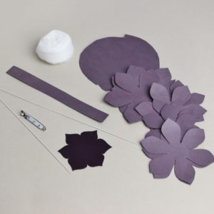 leather dahlia kit