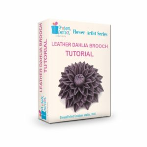 leather dahlia brooch tutorial