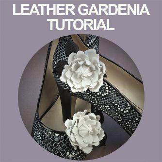 Leather Gardenia Shoe Clip Tutorial