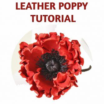 leather poppy tutorial