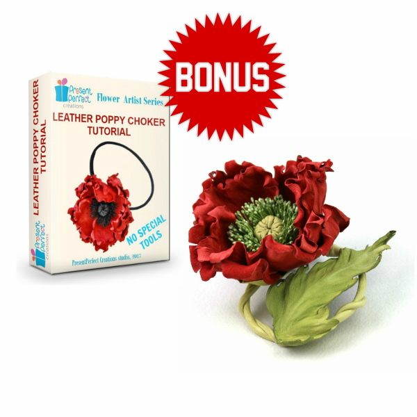 leather poppy flower tutorial