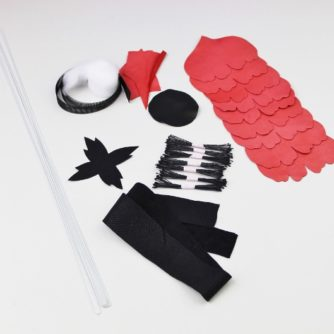 leather poppy kit CHOKER