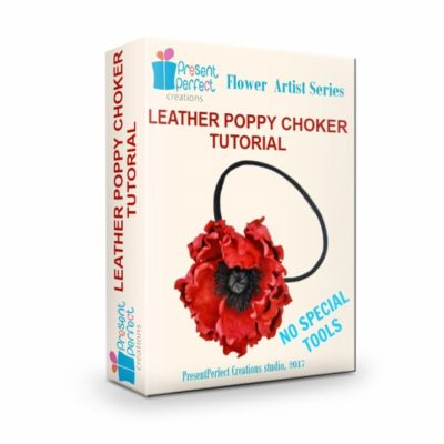 leather poppy flower tutorial