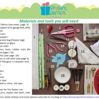 materials tools peony