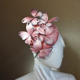 Silk Butterfly Sinamay Button Hat