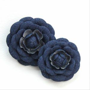 dark denim camellia flowers