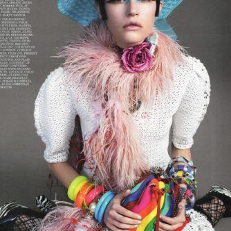 Vogue feature berry choker