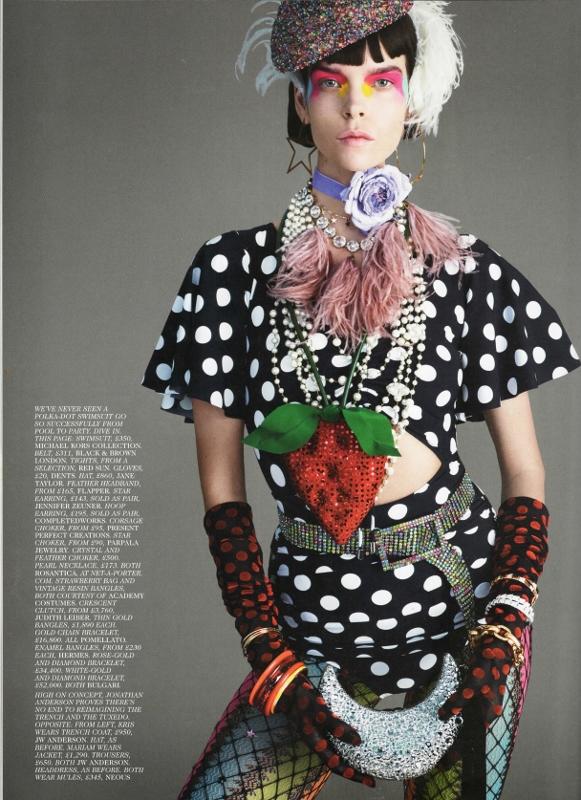 Vogue feature dusky purple choker
