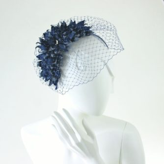 leather bluebell headpiece